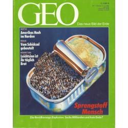 Geo Nr. 1 / Januar 1990 - Sprengstoff Mensch