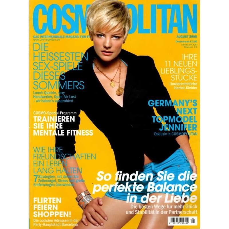 Cosmopolitan 8/August 2008 - Topmodel Jennifer Hof
