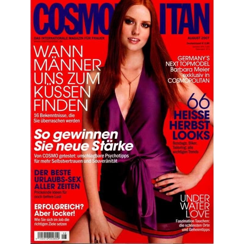 Cosmopolitan 8/August 2007 - Topmodel Barbara Meier