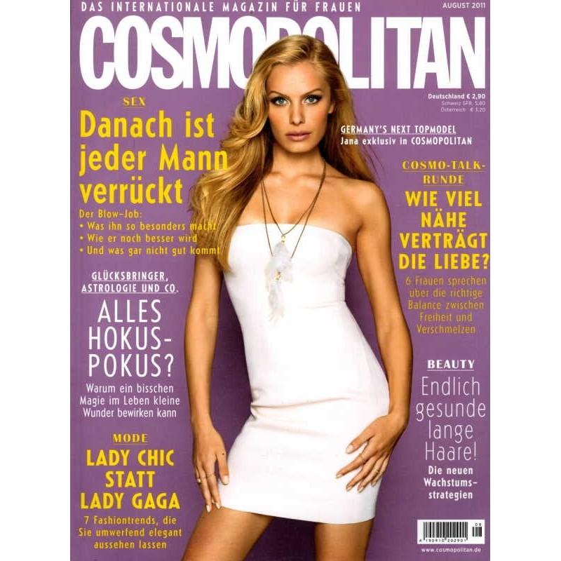 Cosmopolitan 8/August 2011 - Topmodel Jana Beller