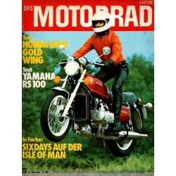 Das Motorrad Nr.23 / 15 November 1975 - Honda 1000 Gold Wing