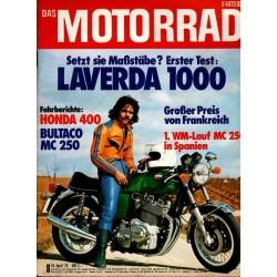 Das Motorrad Nr.8 / 19 April 1975 - Laverda 1000