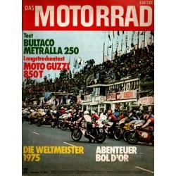 Das Motorrad Nr.22 / 1 November 1975 - Abenteuer Bol d Or