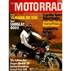 Das Motorrad Nr.11 / 31 Mai 1975 - Yamaha RD 250