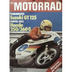 Das Motorrad Nr.22 / 2 November 1974 - Dieter Braun