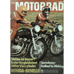 Das Motorrad Nr.23 / 16 November 1974 - Honda-Benelli
