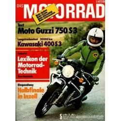 Das Motorrad Nr.5 / 6 März 1976 - Moto Guzzi 750 S 3