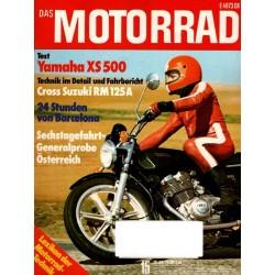 Das Motorrad Nr.15 / 28 Juli 1976 - Yamaha XS 500