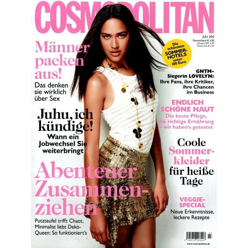 Cosmopolitan 7/Juli 2013 - Topmodel Lovelyn Enebechi