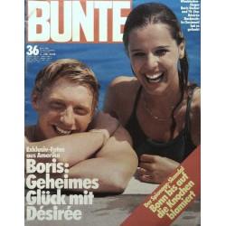 BUNTE Nr.36 / 29 August 1985 - Boris Becker & Desiree Nosbusch