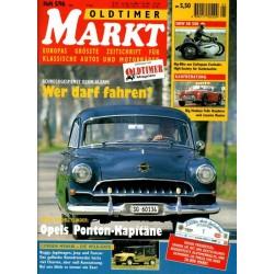 Oldtimer Markt Heft 5/Mai 1996 - Opels Ponton-Kapitäne
