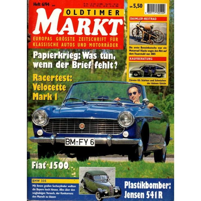 Oldtimer Markt Heft 6/Juni 1994 - Fiat 1500