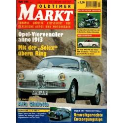 Oldtimer Markt Heft 7/Juli 1995 - Alfa Giulietta