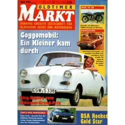 Oldtimer Markt Heft 9/September 1993 - Goggomobil