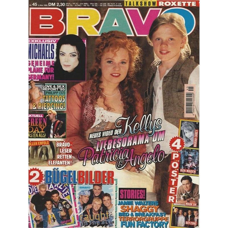 BRAVO Nr.45 / 2 November 1995 - Liebesdrama um Patricia & Angelo Kelly