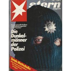 stern Heft Nr.37 / 6 September 1984 - Die Dunkelmänner der Polizei