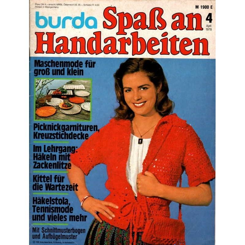 burda Spaß an Handarbeiten 4/April 1978 - Verschlußloses Jäckchen