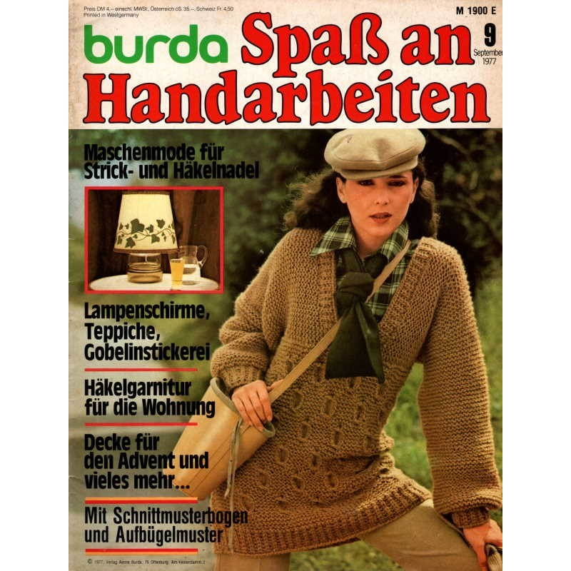 burda Spaß an Handarbeiten 9/September 1977 - Kimonoärmeln