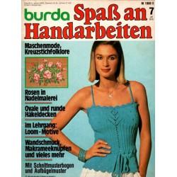 burda Spaß an Handarbeiten 7/Juli 1978 - Pulli mit Ajourblüte