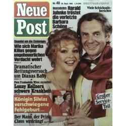 Neue Post Nr.40 / 30 Sept. 1983 - Harald Juhnke & Barbara Schöne