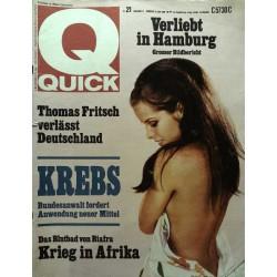 Quick Heft Nr.21 / 22 Mai 1968 - Krebs