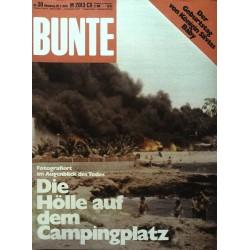BUNTE Nr.30 / 20 Juli 1978 - Die Hölle auf dem Campingplatz