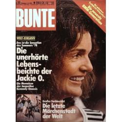 BUNTE Nr.32 / 3 August 1978 - Jackie O.