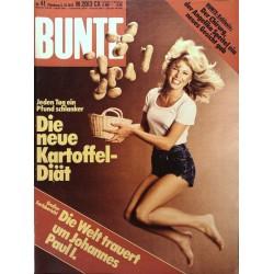 BUNTE Nr.41 / 5 Oktober 1978 - Kartoffel Diät
