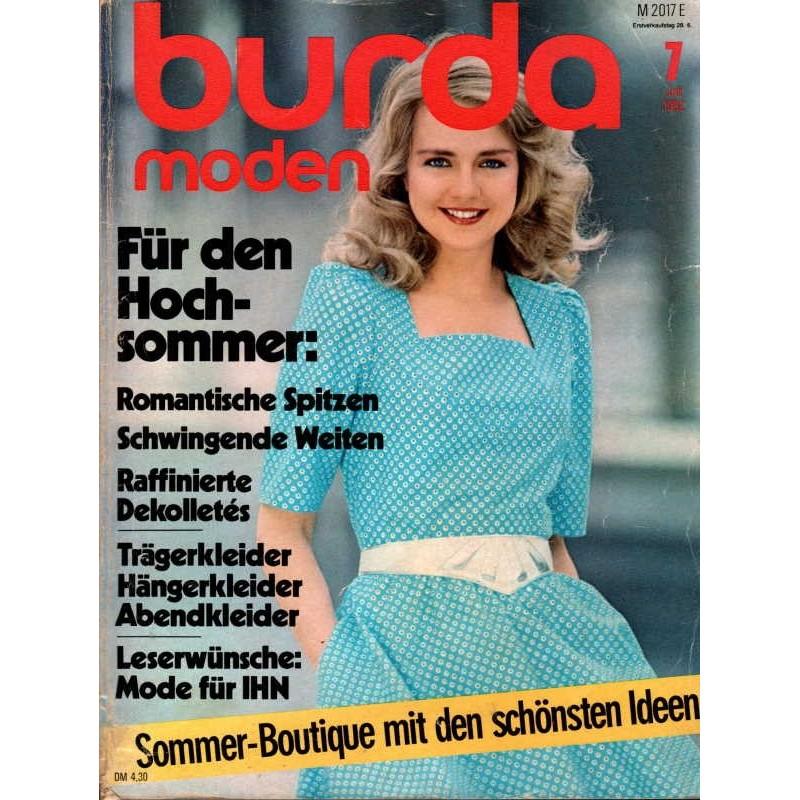 burda Moden 7/Juli 1982 - Für den Hochsommer