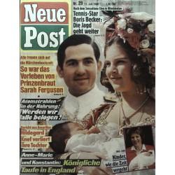 Neue Post Nr.29 / 11 Juli 1986 - Anne-Marie & Konstantin