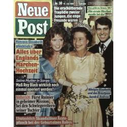 Neue Post Nr.30 / 18 Juli 1986 - Elizabeth, Sarah und Andrew