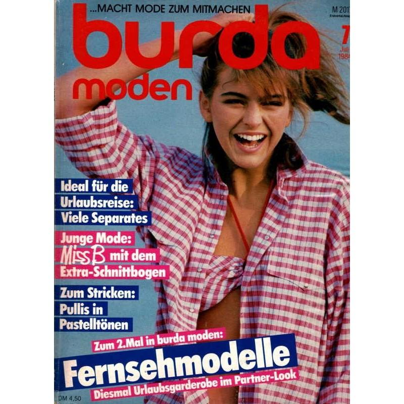 burda Moden 7/Juli 1984 - Fernsehmodelle
