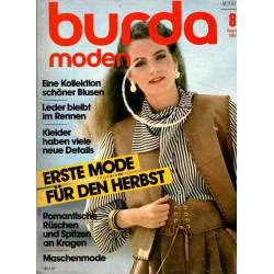 burda Moden 8/August 1982 - Erste Mode für den Herbst