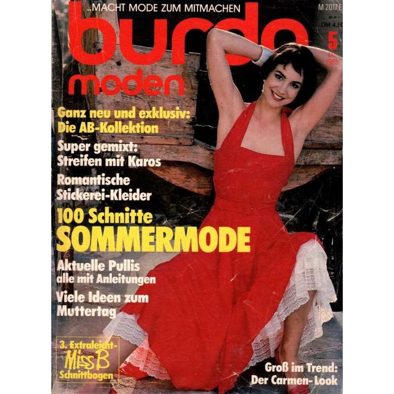 burda Moden 5/Mai 1985 - Der Carmen-Look