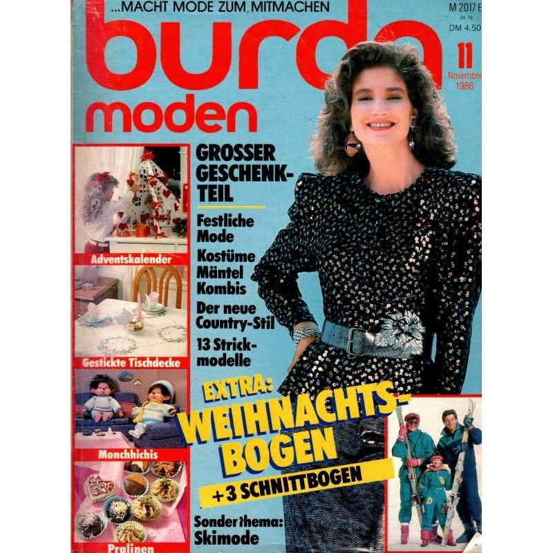burda Moden 11/November 1986 - Festliche Mode