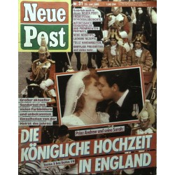Neue Post Nr.31 / 25 Juli 1986 - Prinz Andrew & seine Sarah