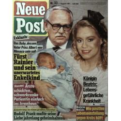 Neue Post Nr.33 / 7 August 1987 - Bea Fiedler & Prinz Albert