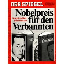 Der Spiegel Nr.42 / 12 Oktober 1970 - Kritiker Solschenizyn