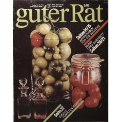 Guter Rat 3/1985 - Grüne Tomaten Rezepte