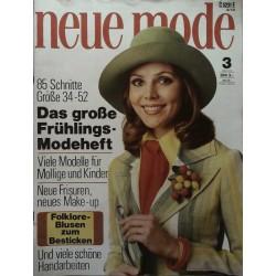 neue mode 3/März 1973 - Frühlings Modeheft