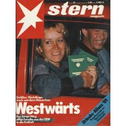 stern Heft Nr.38 / 14 September 1989 - Westwärts