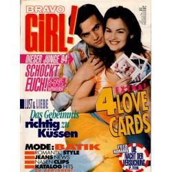 Bravo Girl Nr.4 / 9 Februar 1994 - 4 Love Cards