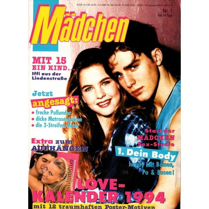 Mädchen Nr.1 / 29 Dezember 1993 - Love Kalender 1994