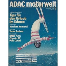 ADAC Motorwelt Heft.11 / November 1982 - Tips für den Urlaub im Schnee