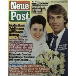 Neue Post Nr.10 / 3 März 1989 - Anne Sophie & Roland Kaiser