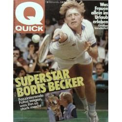 Quick Nr.29 / 11 Juli 1985 - Superstar Boris Becker
