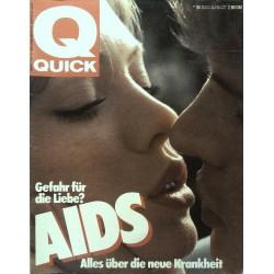 Quick Nr.34 / 15 August 1985 - Aids die neue Krankheit