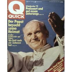 Quick Nr.23 / 31 Mai 1979 - Der Papst besucht seine Heimat
