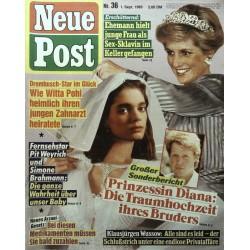 Neue Post Nr.36 / 1 September 1989 - Prinzessin Diana