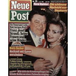 Neue Post Nr.28 / 7 Juli 1989 - Franz Josef Strauß